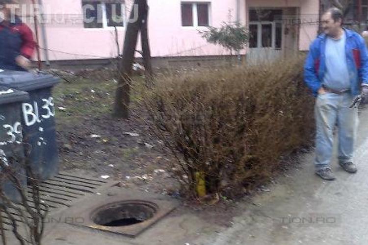 Record de furturi de capace de canal la Cluj-Napoca! 25 de capace de canal au fost furate  azi-noapte!