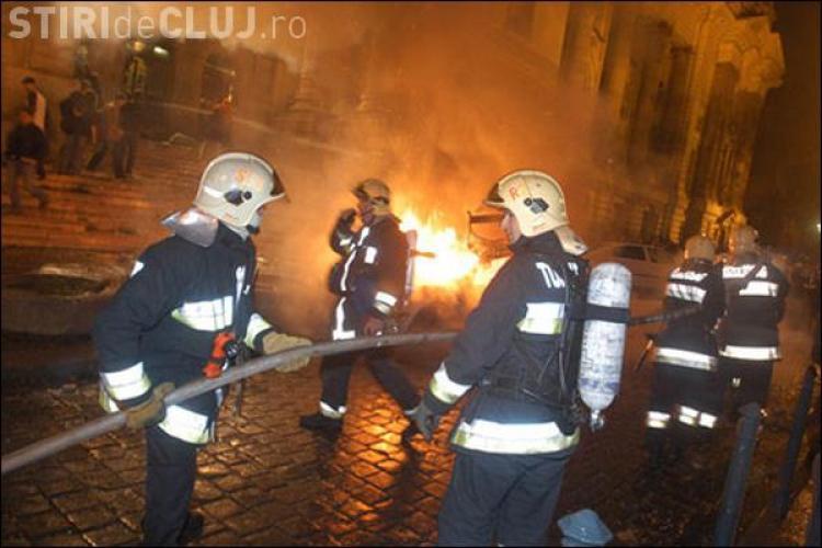 Sediul firmei care ridica masini in Turda, incendiat!