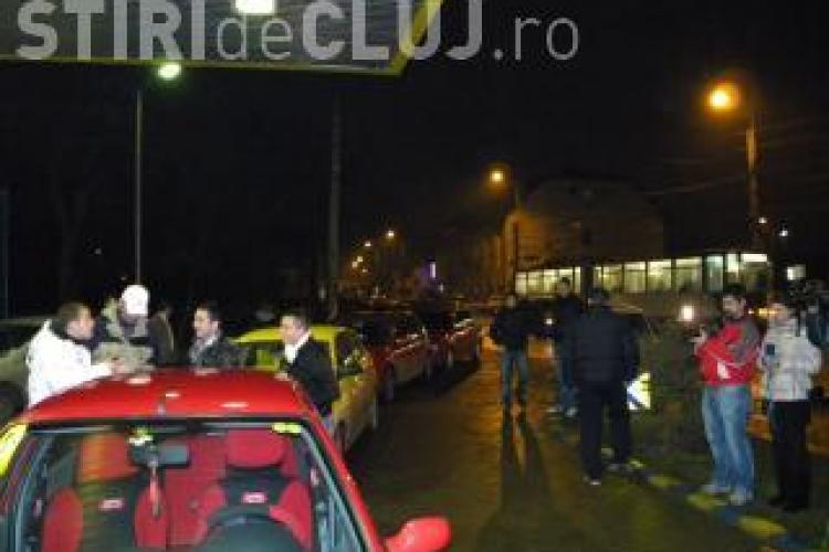 20 de soferi clujeni au blocat benzinaria Mol de pe strada Teodor Mihali din Cluj-Napoca VIDEO