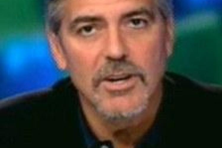 George Clooney are malarie dupa o vizita in Sudan