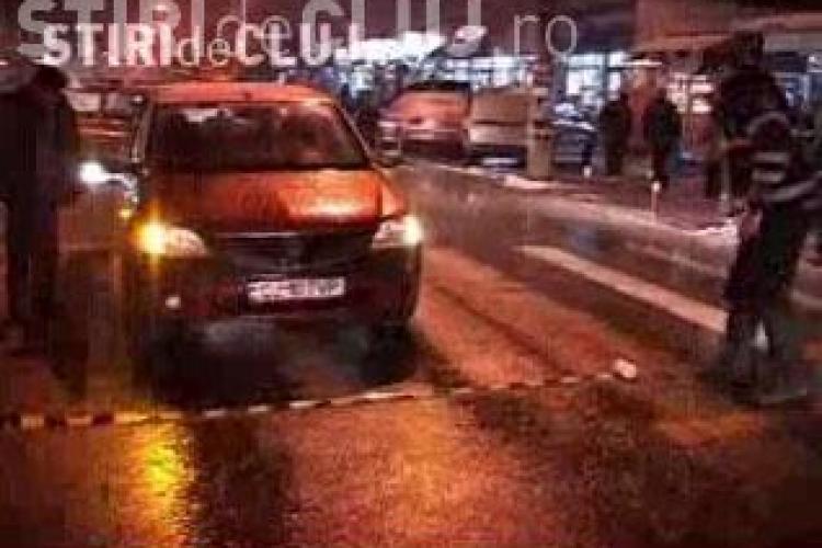 Accident pe strada Dambovitei din Cluj-Napoca! O tanara a fost lovita de un taximetru pe  trecerea de pietoni! - VIDEO