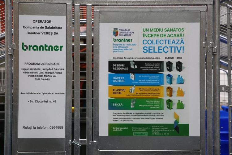 Cluj-Napoca: 50 de noi puncte de colectare selectivă a deșeurilor în tot orașul FOTO