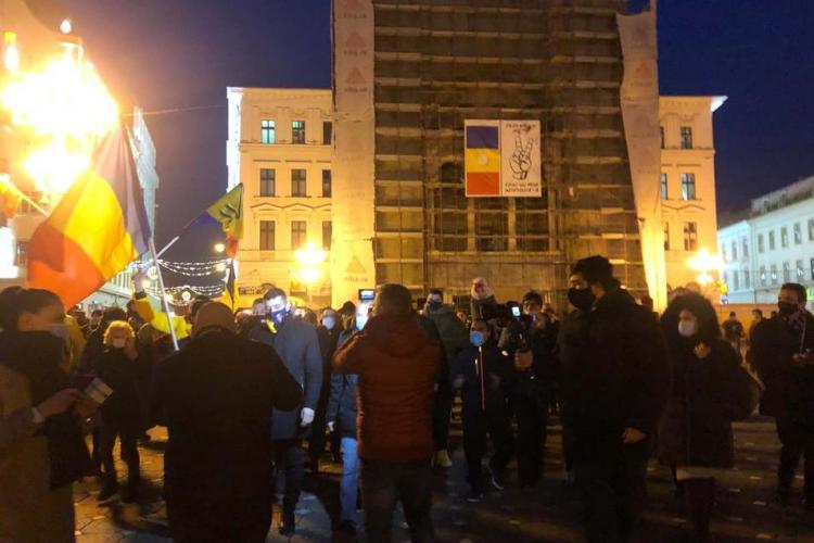 George Simion mustrat la Timișoara de revoluționari