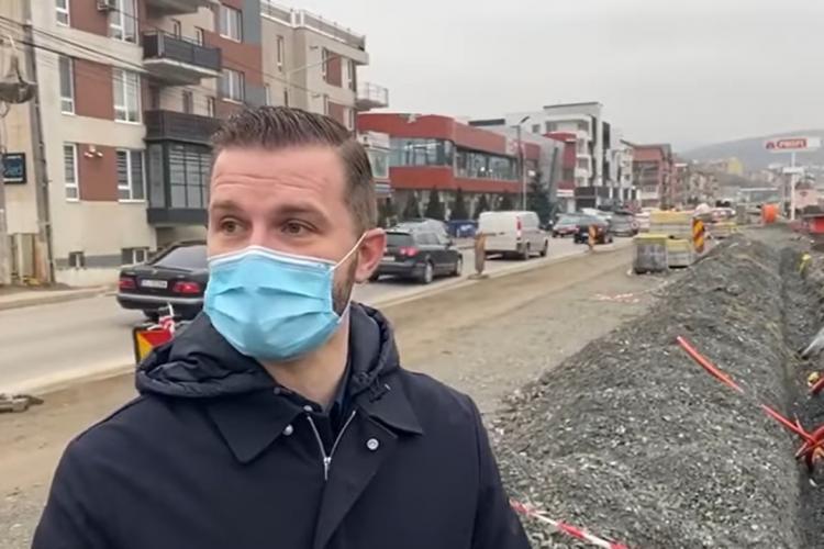 Primarul Floreștiului, în inspecție pe șantierul de pe Eroilor: E a doua oară când nu găsesc activitate pe acest şantier VIDEO
