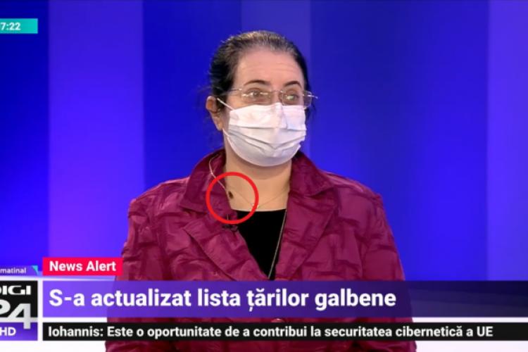 Gândaci de bucătărie pe o invitată de la Digi TV. Prezentatoarea nu i-a spus nimic - FOTO