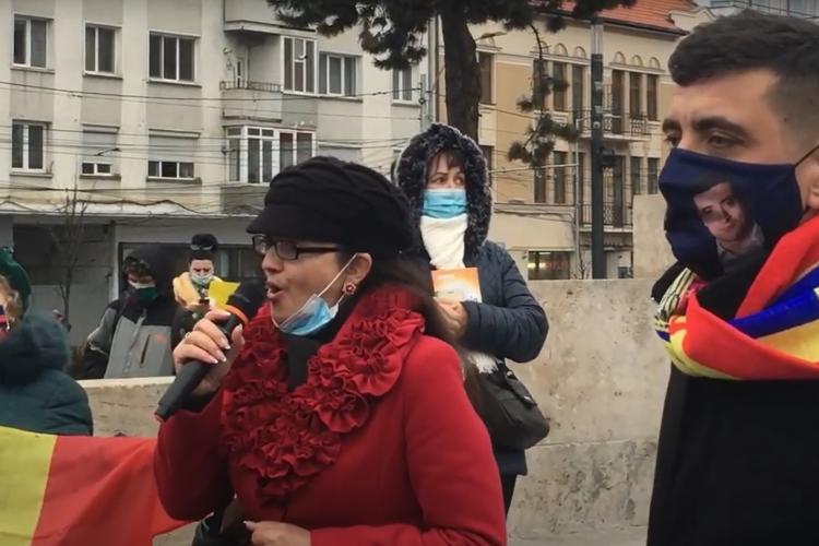 Eveniment cu accente naționaliste la vizita de la Cluj a lui George Simion, liderul AUR - VIDEO