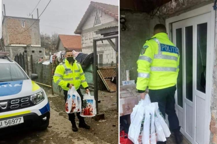 Moș Crăciun a purtat uniformă la Cluj și a dus cadouri