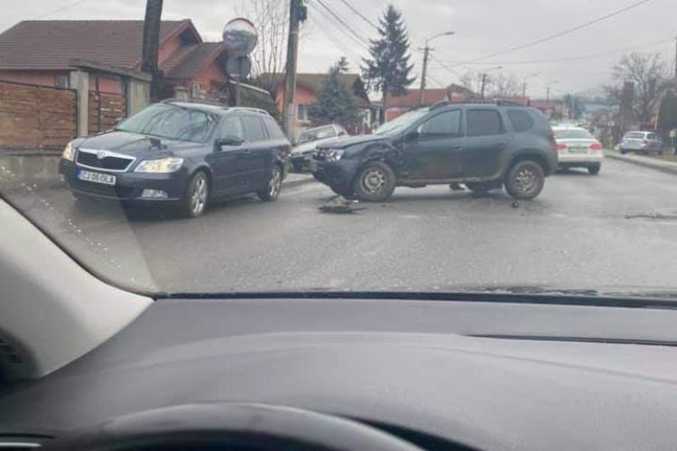 Accident pe strada Oașului, din cauza lipsei de vizibilitate - FOTO