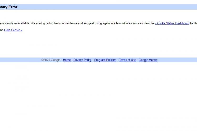 YouTube, Gmail și alte servicii Google au picat