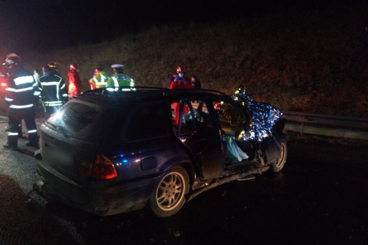 Accident grav pe autostrada A3. Un tânăr a ajuns în stare critică la spital FOTO