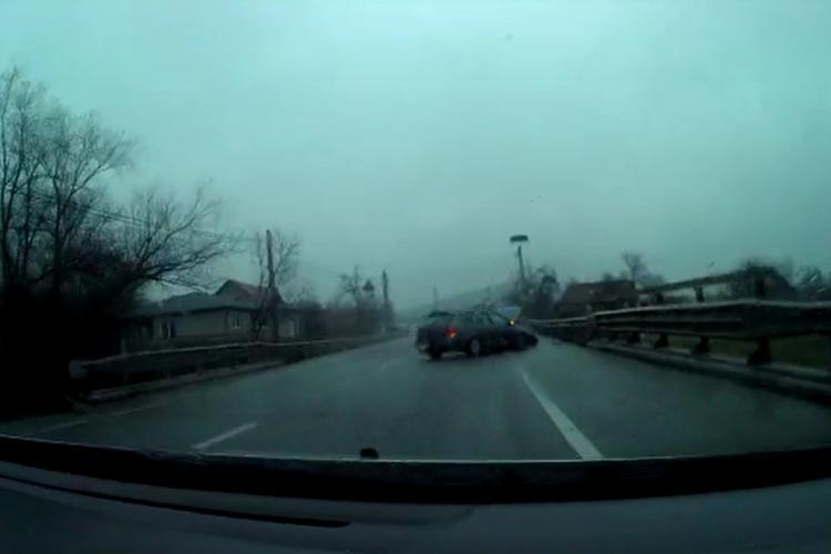 Accidentul de la Gherla, filmat LIVE cu o cameră de bord. Șoferul care a filmat s-a PANICAT pe bună dreptate- VIDEO