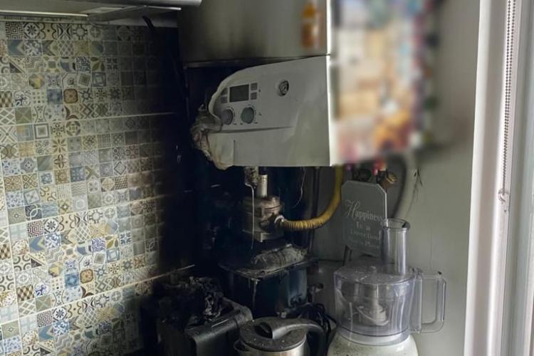 Cluj: Incident la apartament de pe strada Porțelanului. Pompierii au intervenit