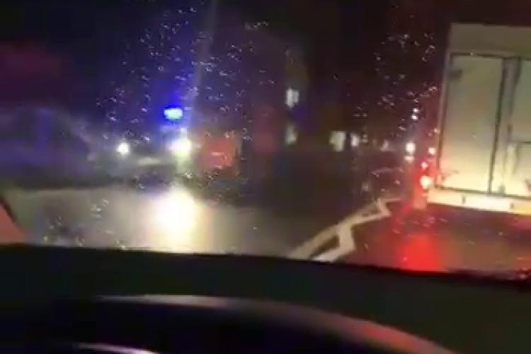 Pieton lovit de mașină în Baciu. Era pe trecerea de pietoni - VIDEO