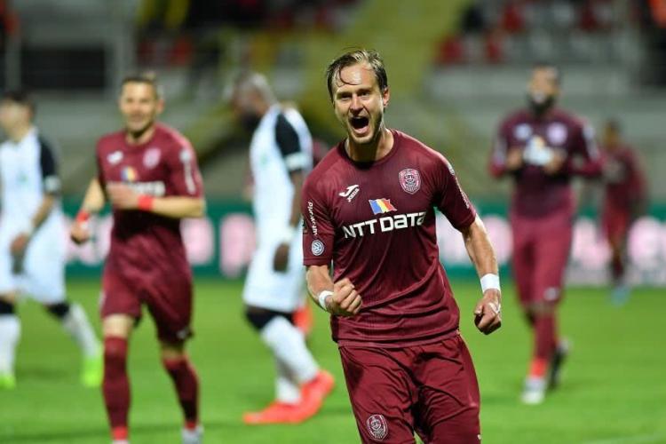 """CFR Cluj își poate pierde """"creierul"""" apărării. S-a primit o ofertă clară pentru Djokovic"""