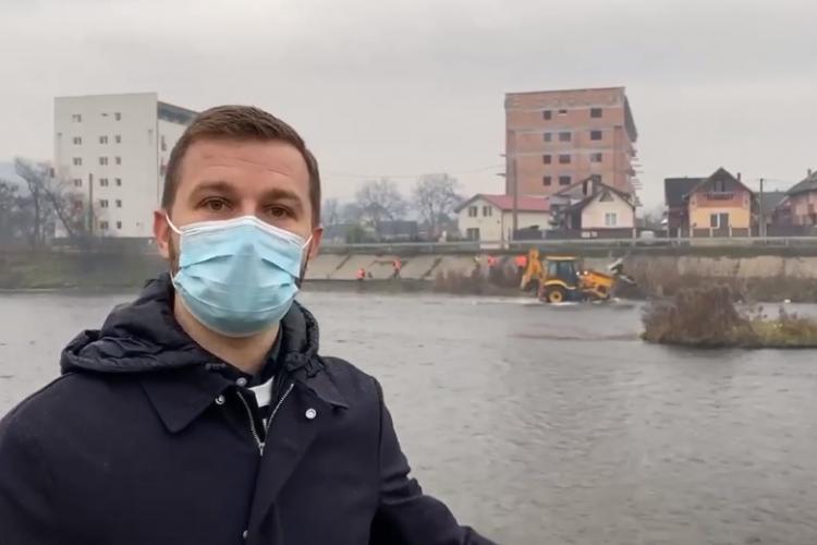 Bogdan Pivariu, primarul din Florești: Am depistat și amendat 4 persoane care au aruncat gunoaie pe malul Someșului - VIDEO