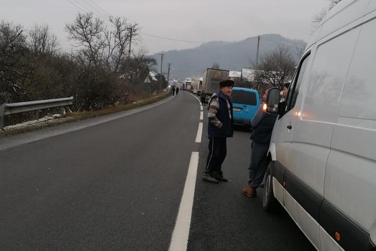 Accident pe drumul Sălaj - Cluj - FOTO