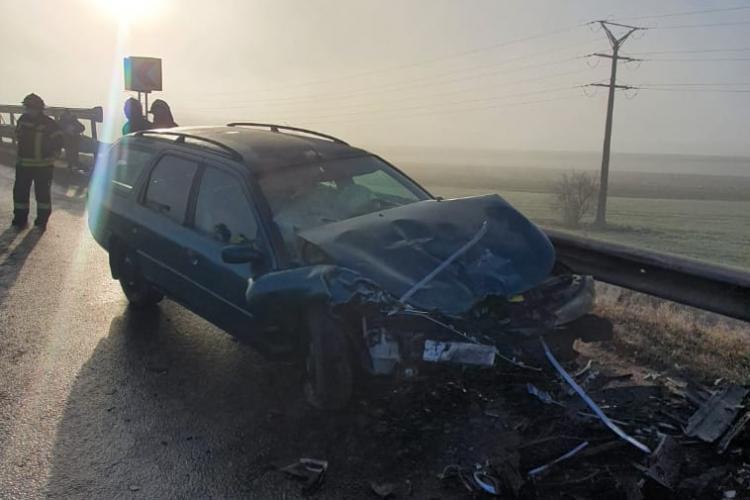 Accident la Turda, la urcare pe autostradă - FOTO