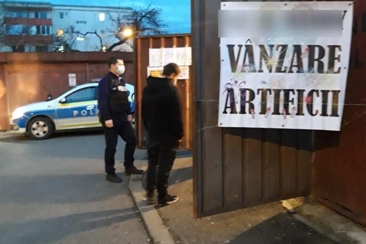 90 de kilograme de articole pirotehnice, confiscate la Cluj - FOTO