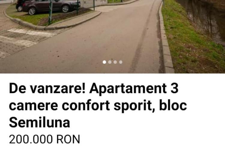 Apartament la preț de 200.000 de euro în Plopilor. Locul de parcare costă o avere