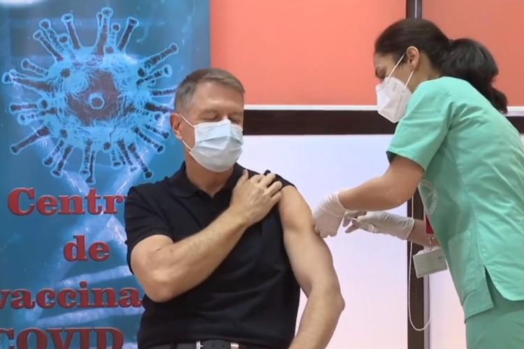Klaus Iohannis s-a vaccinat public! Se dă startul etapei a doua de vaccinare anti-COVID-19 - VIDEO