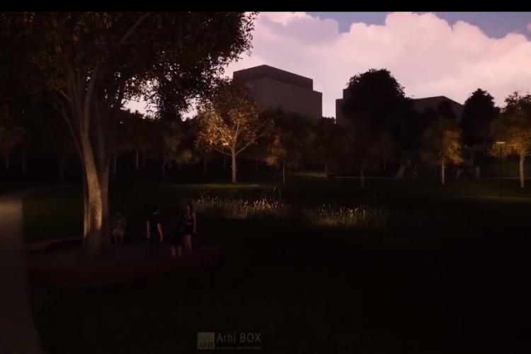 Cum va arăta Parcul Observator, din cartierul Zorilor - VIDEO