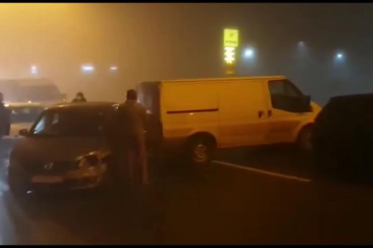 VIDEO - Accident în lanț pe Calea Turzii. În carambol au fost implicate opt mașini