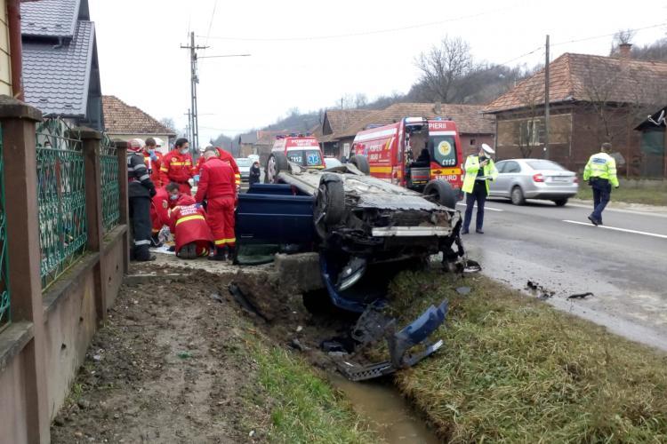 Accident la Zimbor, pe drumul Cluj - Sălaj! O femeie a murit, neputând fi resuscitată - FOTO