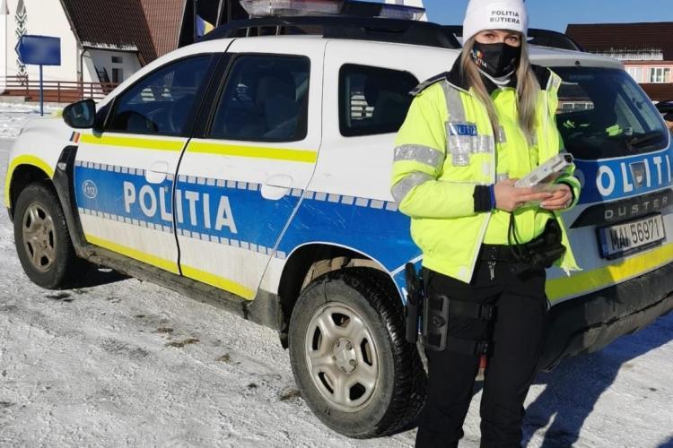 Mesaj de la o frumoasă polițistă din Cluj: Se apropie coșmarul oricărui polițist rutier