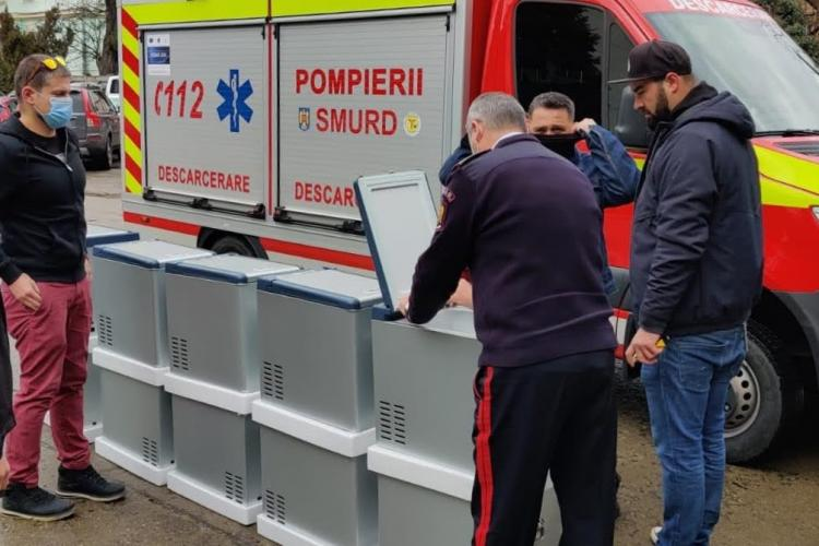 Beard Brothers Cluj a donat cutii frigorifice pentru transportul vaccinului anti-COVID-19 - FOTO