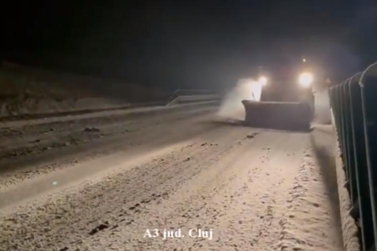 DRDP Cluj intervine pe drumuri cu 159 de utilaje și spune că nu sunt drumuri blocate - VIDEO