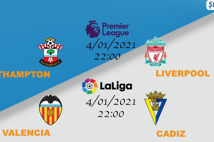 Valencia speră să scape de locurile retrogradabile, în timp ce Liverpool are ocazia să se distanțeze în fruntea clasamentului de rivala Manchester United