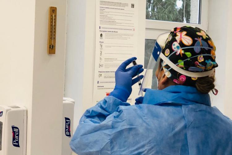 Cluj: 1.110 cadre medicale s-au vaccinat în ultima zi