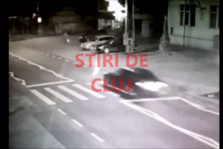 Accidentul din Baciu filmat de o cameră de supraveghere - VIDEO cu momentul impactului