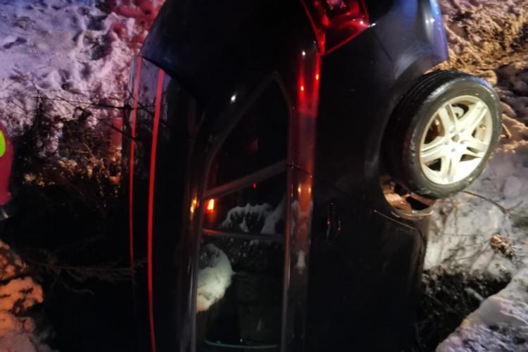 Accident în Bistrița Năsăud, pe Dealul Dumitrei - FOTO