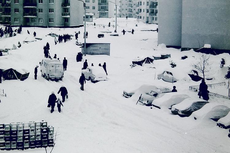 Cum arăta iarna, în 3 ianuarie 1981, la Cluj - FOTO
