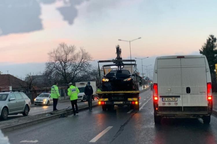 Record de accidente pe Calea Turzii, într-o singură dimineață! Opt șoferi și-au avariat mașinile