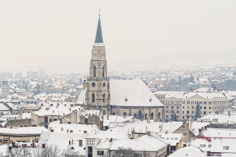 Ciclonul islandez aduce gerul la Cluj. Vezi cum se va schimba vremea în următoarele zile!