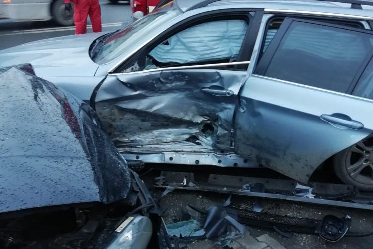 Accident pe strada Libertății, din Bistrița - FOTO
