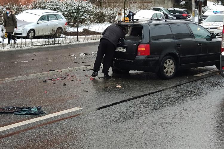 Accident pe strada Observatorului - FOTO
