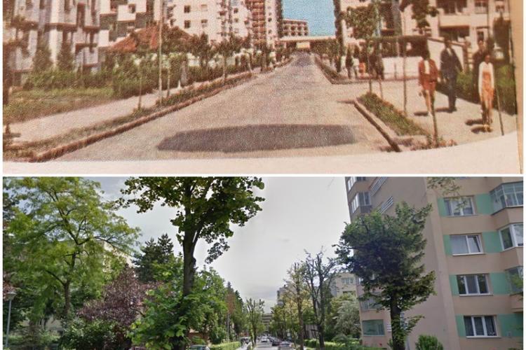 Strada Albac, în 1970, emblematică pentru cartierul Gheorgheni - FOTO