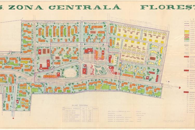 Planșe cu dezvoltarea Floreștiului în 1980! Comuniștii aveau mai mult creier ca arhitecții și decidenții de azi - FOTO