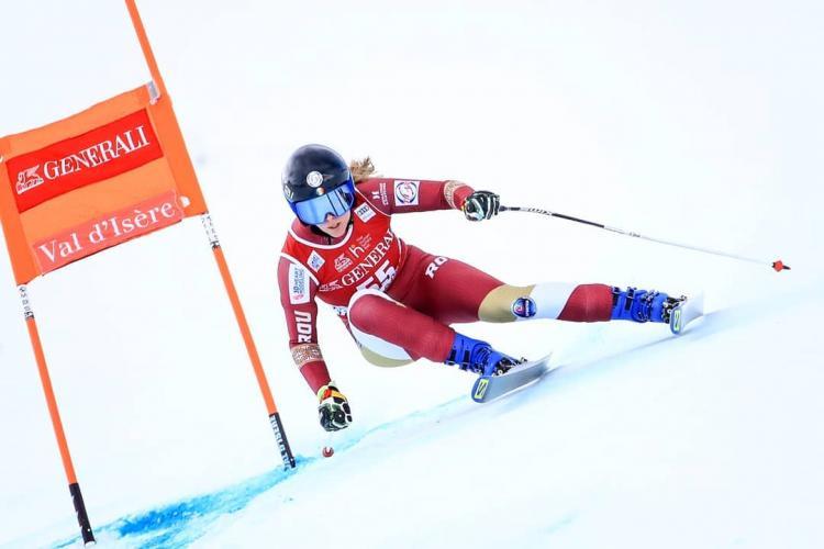 Ania Caill, cea mai bună schioare din România, nu a fost inclusă în lotul pentru Campionatul Mondial