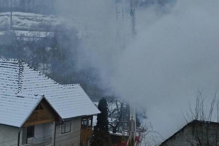 Incendiu puternic în Bistrița, pe Stefan cel Mare - VIDEO