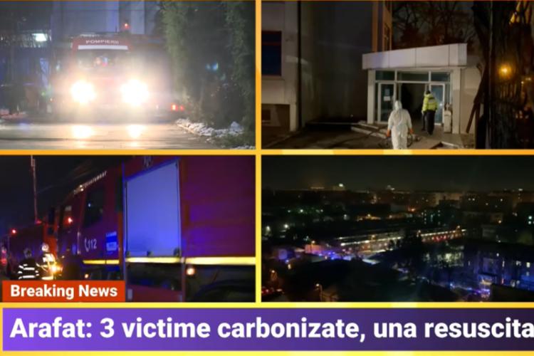 Primele imagini - Incendiu la Matei Balș cu mai mulți morți și zeci de pacienți evacuați - VIDEO