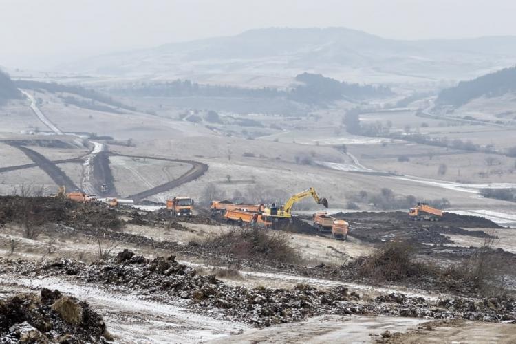 Veste bună! A pornit șantierul pe Autostrada Transilvania, sectorul Nădășelu și Zimbor - FOTO