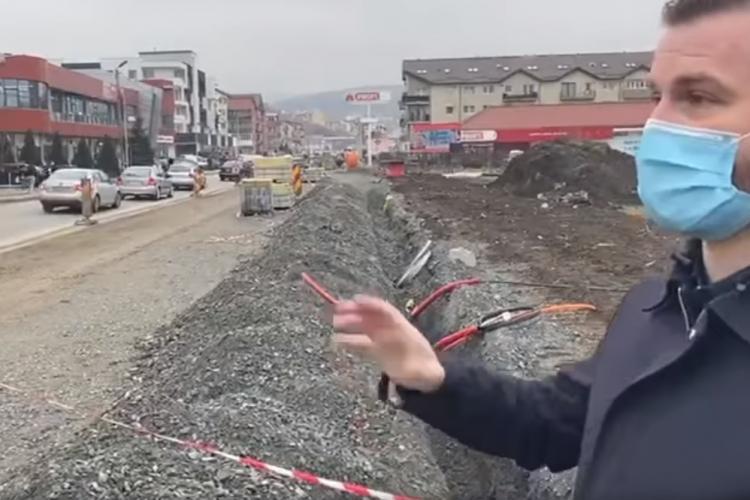 Societatea Napoca a reziliat contractul de execuție a străzii Eroilor din Florești