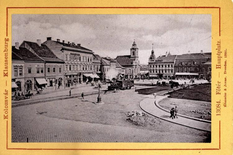 Un tren cu aburi circula prin Piața Unirii în 1901 - FOTO