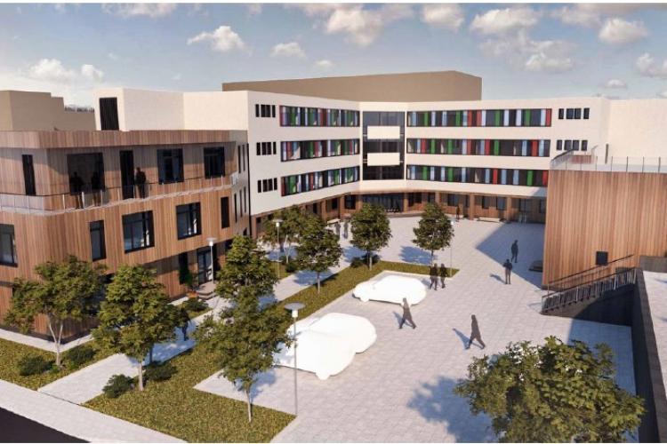 Clujul a început construirea celui mai modern sediu al unei școli speciale din țară