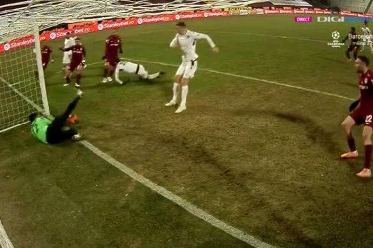 CFR Cluj - FC Voluntari, 0-0. Clujenii furați de un gol valabil. Ce verdict dă Crăciunescu - FOTO