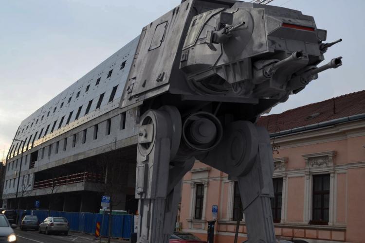"""Cel mai bun Meme cu hotelul """"monstru"""" de la Cluj: Hotelul Star Wars sau """"Primul vagon al metroului lui Boc - FOTO"""